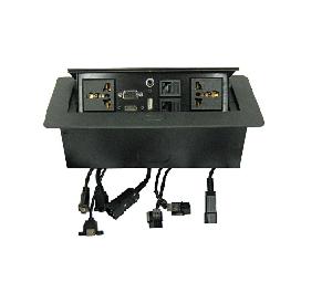 קופסת שולחן מובנית צבע שחור