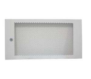 דלת מתכת מחוררת לארון תקשורת צבע אפור